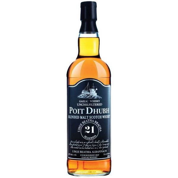 Poit Dhubh 21 Year Old Blended Malt Whisky
