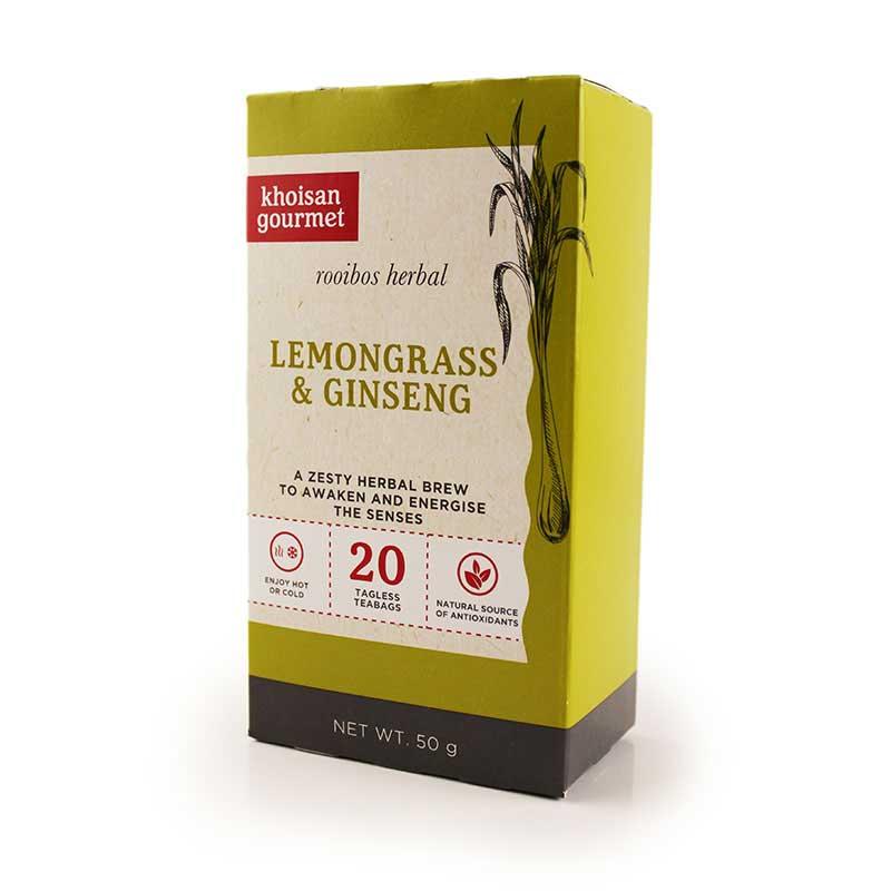Khoisan Gourmet Rooibos Lemongrass & Ginseng Tea