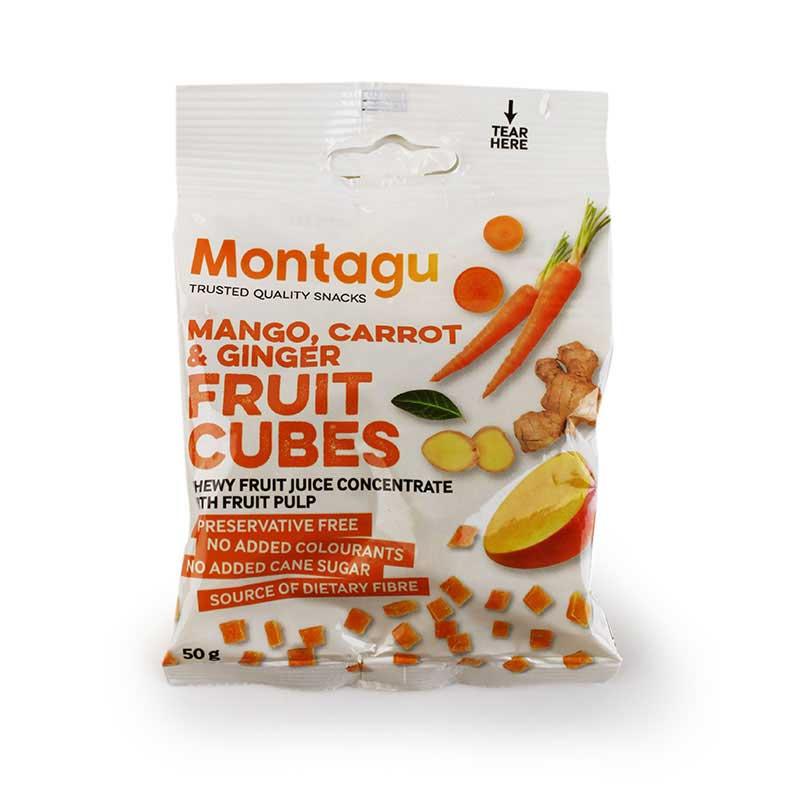 Montagu Fruit Cubes (mango, carrot & ginger) 50g