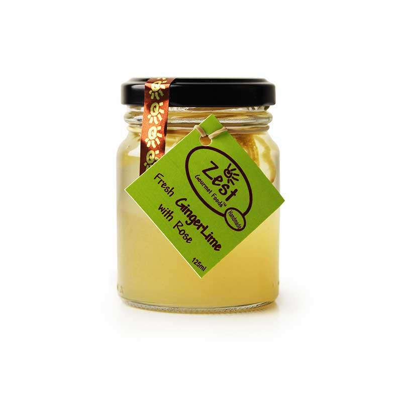 Fresh Ginger Lime with Rose Jam 125ml